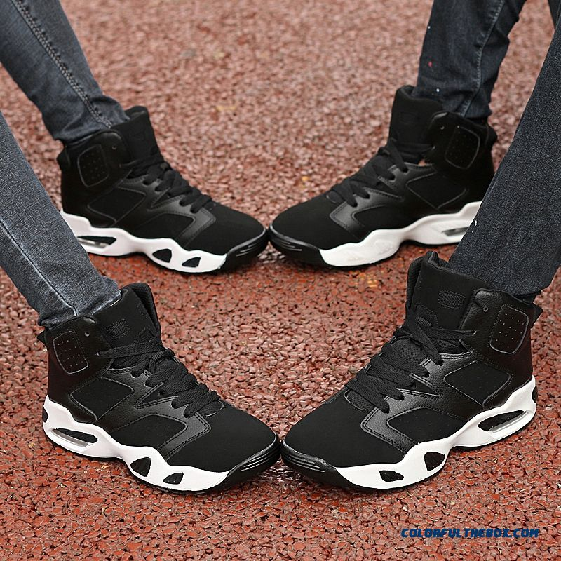 New Black And White Classic Fashion Basketball Shoes Air Cushion Couples Shoes - more images 1