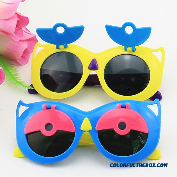 New Boys And Girls Flip Owl Uv Protection Sunglasses Wholesale Toys Accesories
