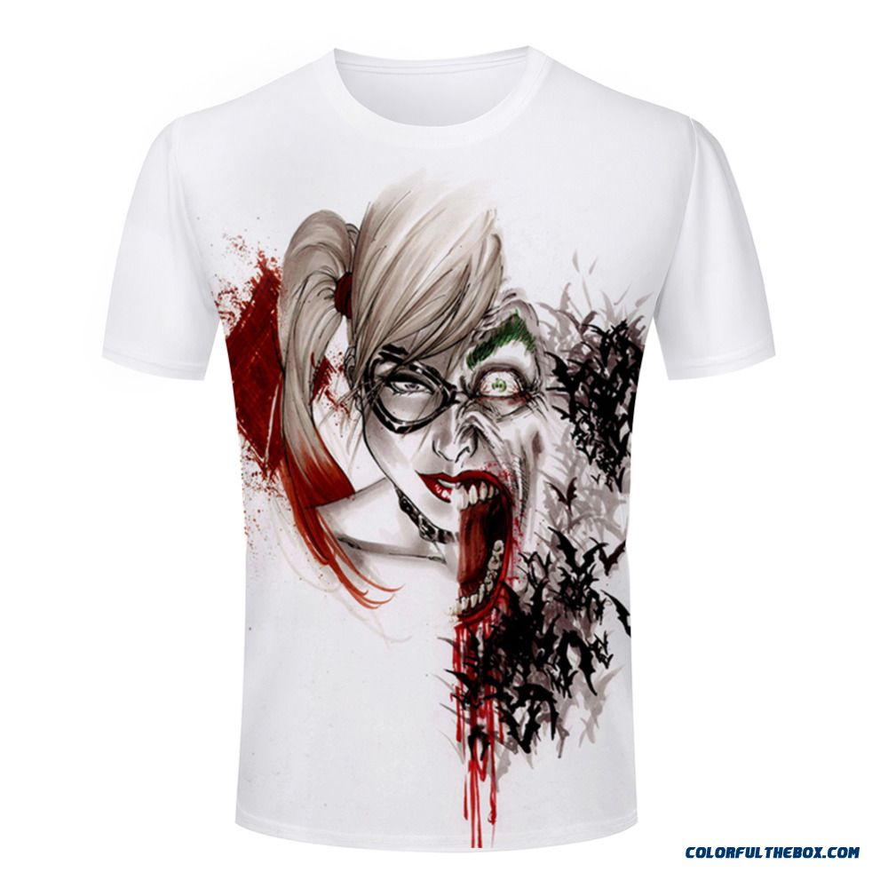 New Brand Clothing 3d T Shirt Men Comfortable Tshirt Harley Quinn Joker Printed 3d Fitness Man T-shirt Size S-4xl Free Shipping