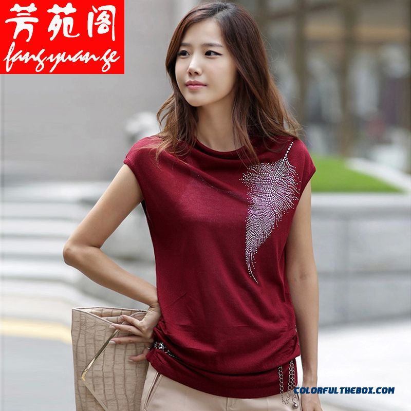 New Brand Fashion Loose Short-sleeved T-shirt Women Medium Style