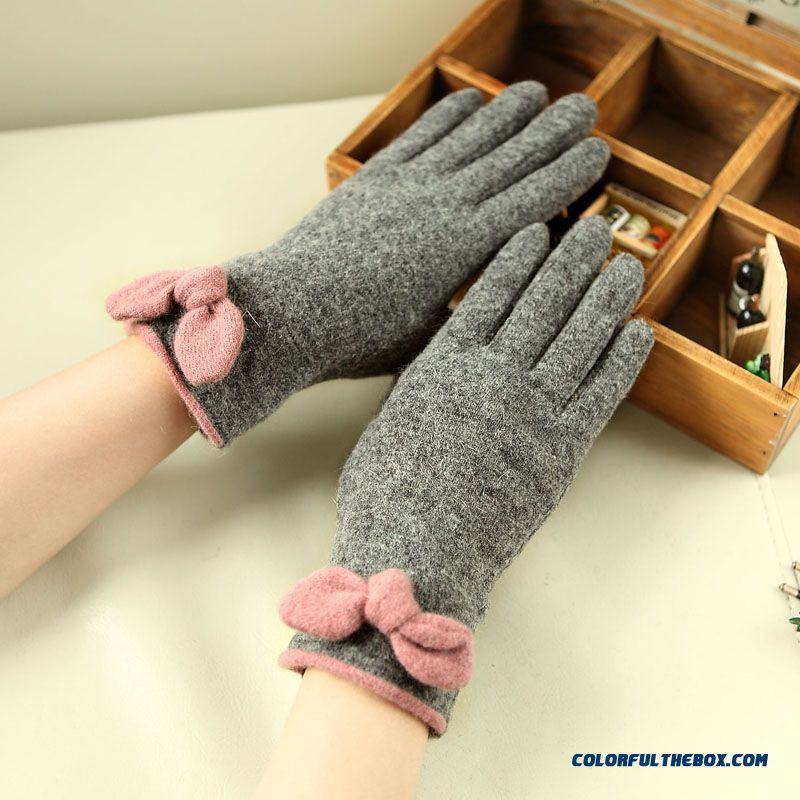 New Brand Mismemo Lady Women Autumn And Winter Full Finger Gloves Knitted Wool Glove & Mittens