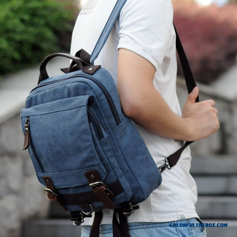 e42a4abe6c14 New Brand Top Design For Men s Canvas Backpack Unisex College Style  Schoolbags ...