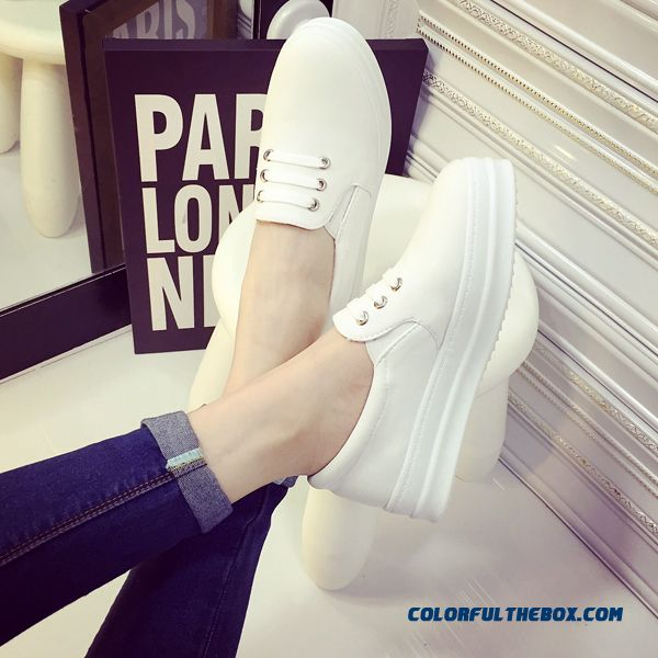 New Canvas Summer Flat Thick Bottom Round-toe Women Casual Shoes