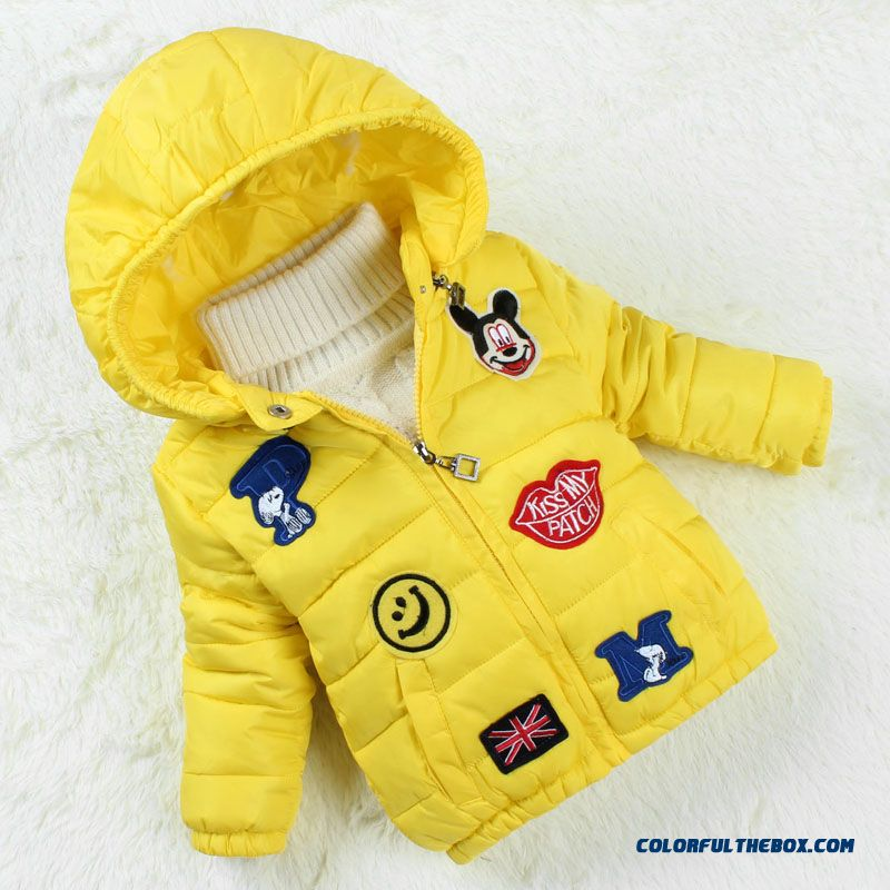 dbd8c5433af ... New Cartoon Baby Cotton Thick Padded Jacket Girls Jacket Winter Clothing  Yellow Black ...