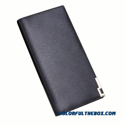 New Chinese Genuine Bags Men's Long Wallets Simple Fashion Wallets Student Ultra - Thin Wallet Card Packages