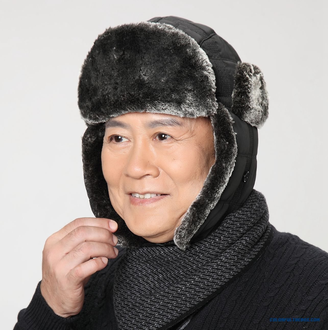 New Cold-proof Of Middle-aged Men's Hats Lei Feng Hat With Protect Ear Function