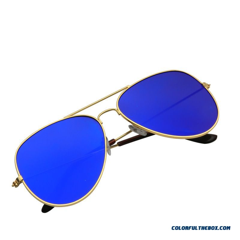 New Color Film Flatbed Frog Mirror Sunglasses Men Star Models Reflective Sunglasses Women Personas