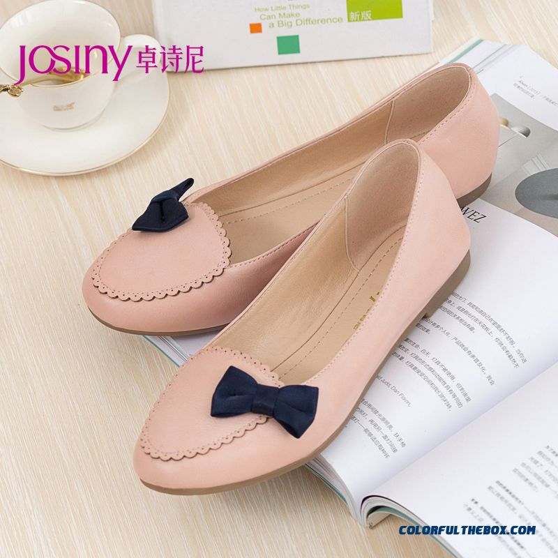 New Comfortable Design Shallow Mouth Round-toe Flats Women Shoes