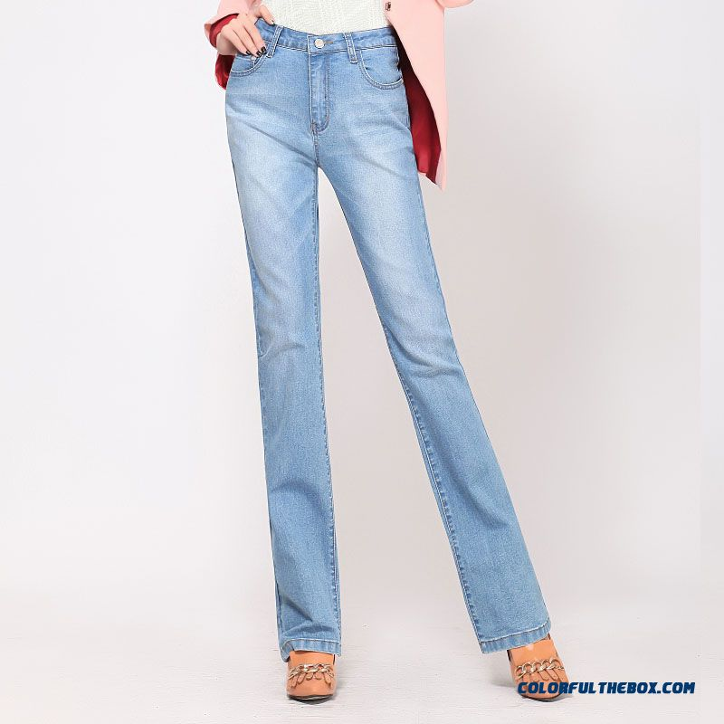 New Design Autumn And Winter Thick Xl Pants Slim High Waist Bootcut Jeans