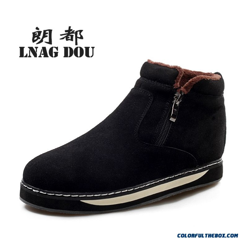 New Design Casual Plus Velvet Warm Cotton-padded Shoes High-top Men Boots