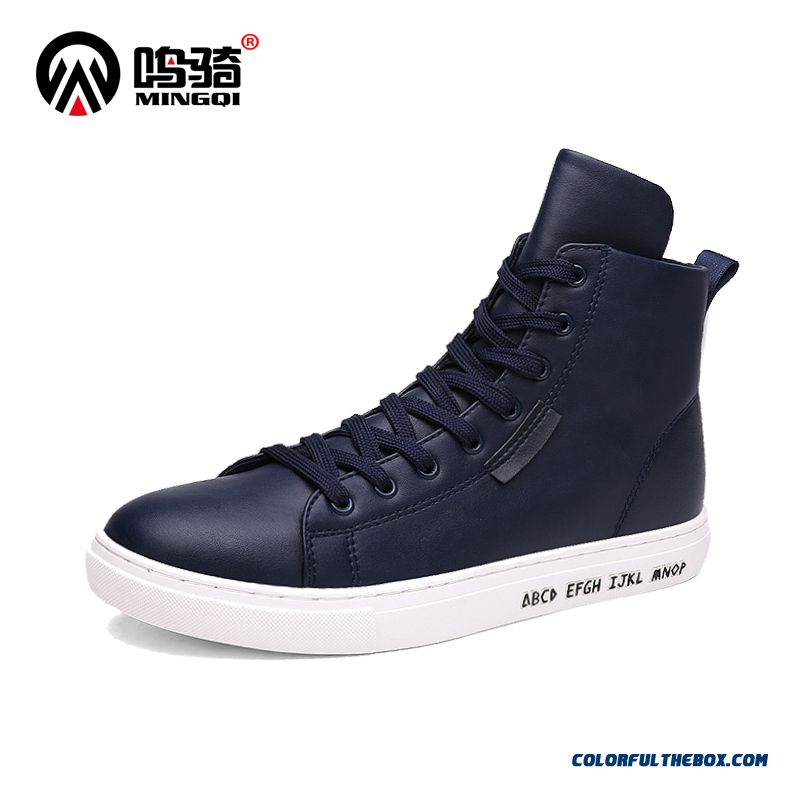 New Design Men Boots Plus Velvet Warm Cotton Shoes Tide Comfortable