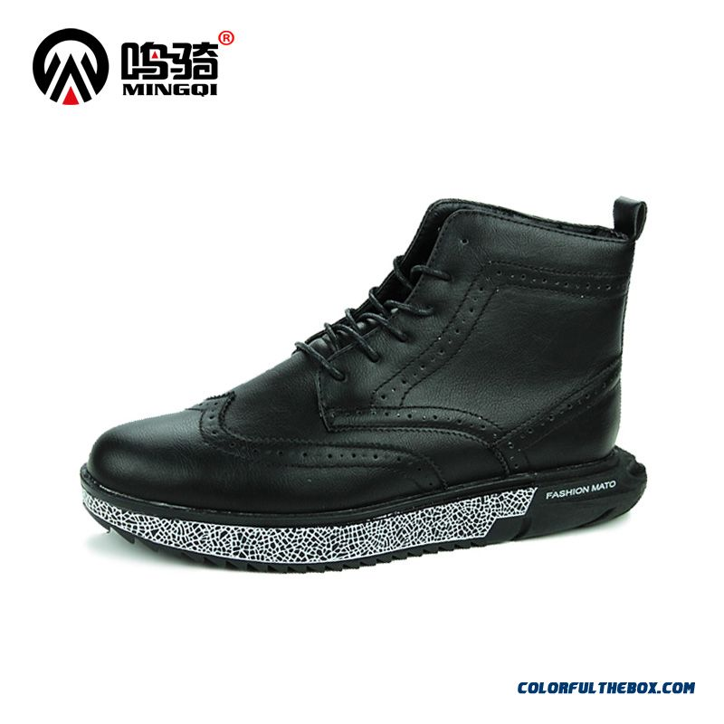 New Design Men Boots Short High Cut Casual Fashion Warm Black Shoes