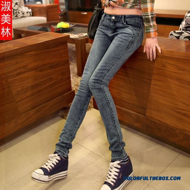 New Design Spring Slim Women Pencil Pants Stretch Jeans Yop Selling