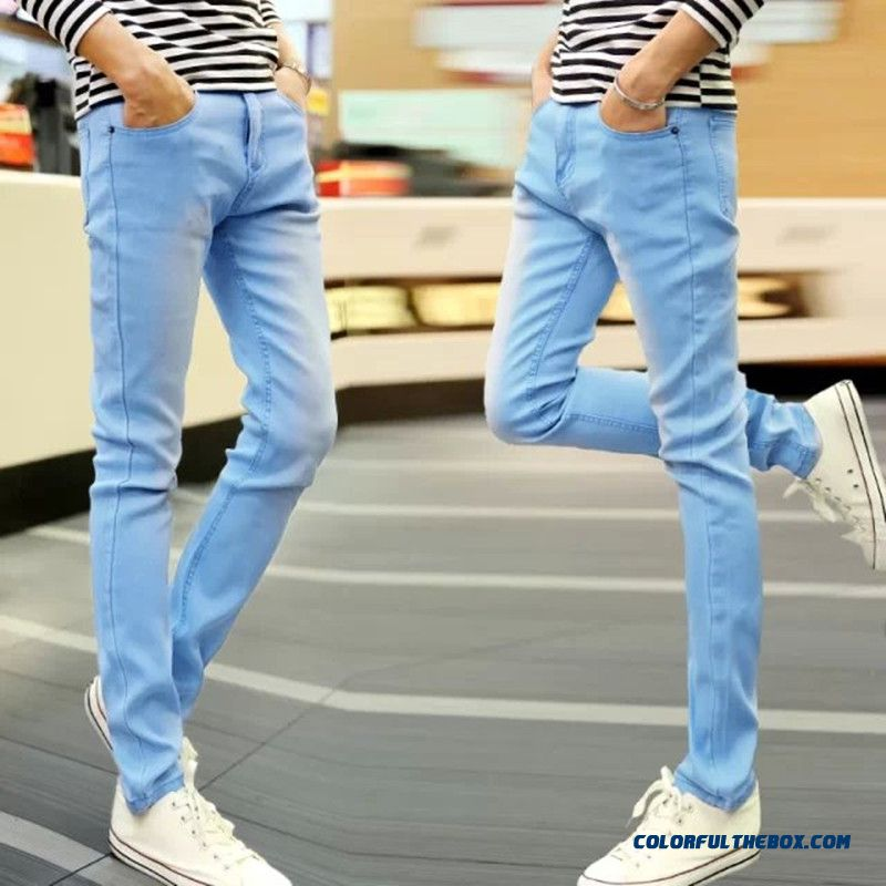 Cheap New Design Young Menu0026#39;s Jeans Slim Simple Straight Free Shipping Sale Online