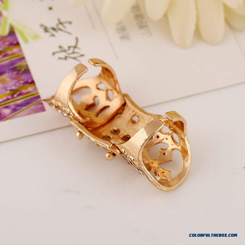 New Designed For Women Diamond Jewelry New Armor Cross Joints Rings - more images 3