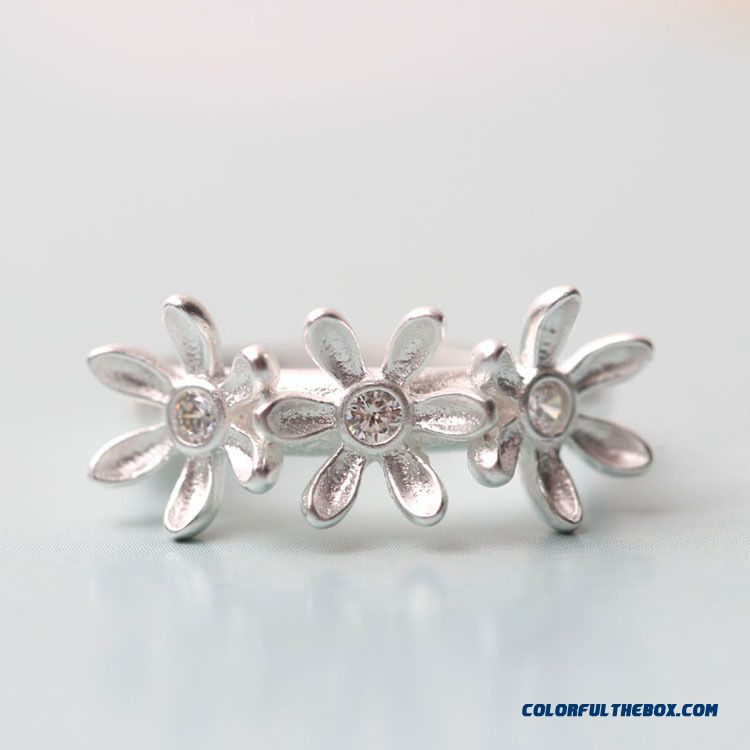 New Designers Burst Cute Silver Garland Opening Ring Women's Jewelry
