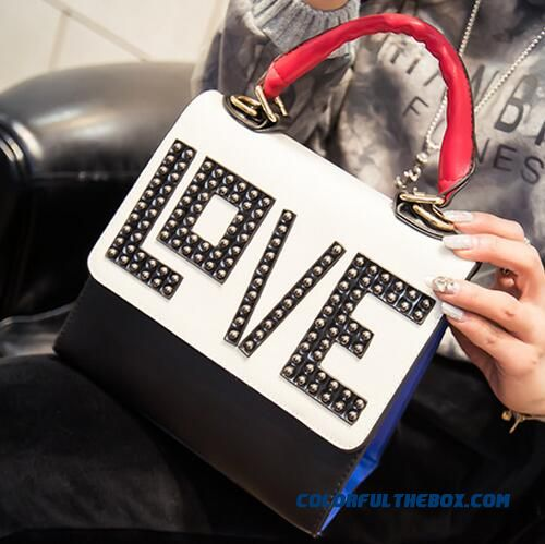 New Europe Style Love Letter Hit Color Women Bag Top-handle Bags