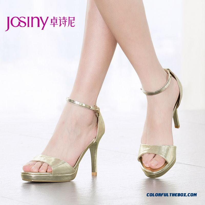 New European And American Style Of Summer Stiletto Sandals Toe Stiletto Buckle Women Shoes