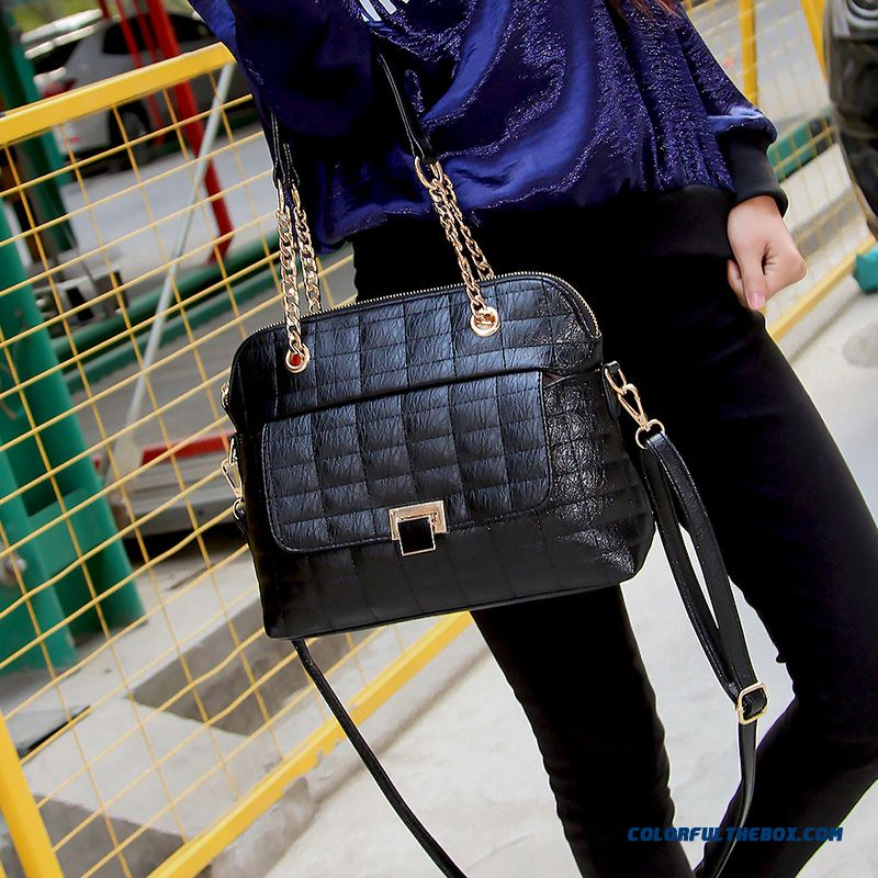 New Fall And Winter Lady Diamond Lattice Bags Fashionable Tide Women Chic Shoulder Bags
