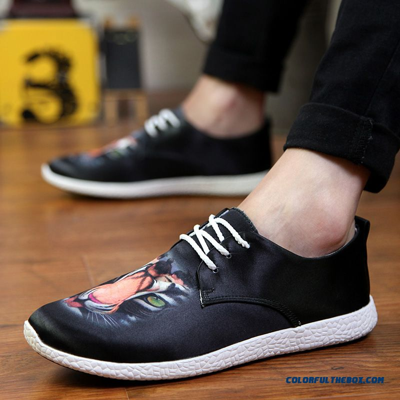 New Fall Fashion Breathable Men's Casual Skateboarding Shoes Men's Flats Shoes