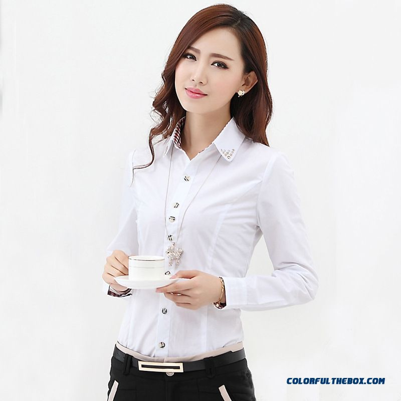 Cheap New Fall Fashion Long sleeved Blouse Occupational Slim
