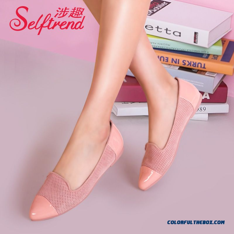 New Fall Flat Bottom Candy Colored Mesh Pointed Shallow Mouth Women Shoes