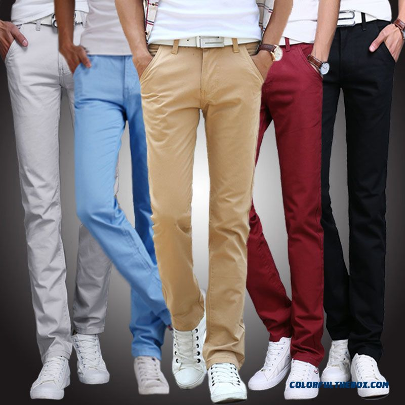 New Fashion Hot Sale Young Men Casual Thick Style Slim Straight Long Pants