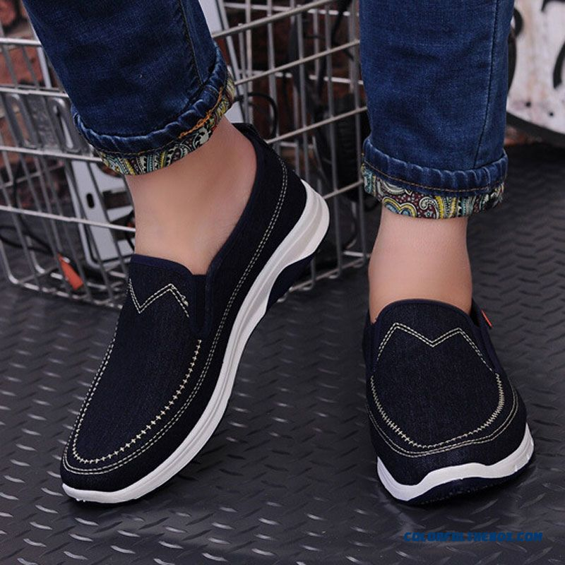 New Fashion Men Casual Shoes Spring Summer New Men Peking Shoes Comfortable Slip-on Canvas Shoes Man On Sale - more images 2