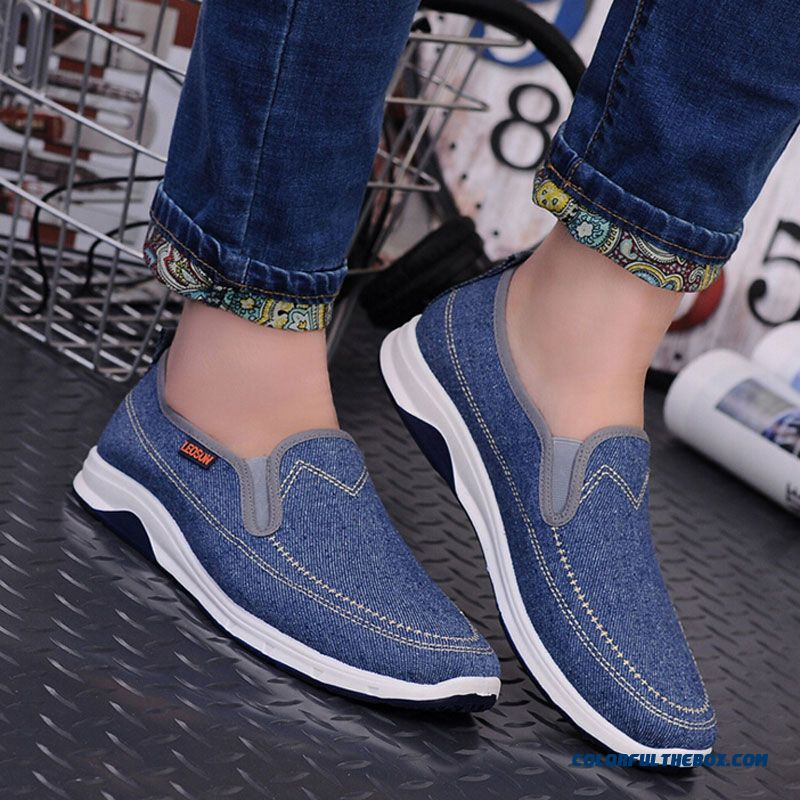 New Fashion Men Casual Shoes Spring Summer New Men Peking Shoes Comfortable Slip-on Canvas Shoes Man On Sale - more images 3