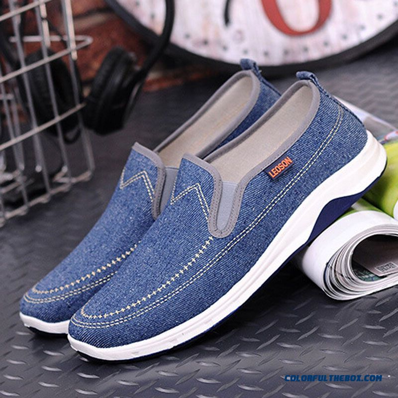 New Fashion Men Casual Shoes Spring Summer New Men Peking Shoes Comfortable Slip-on Canvas Shoes Man On Sale - more images 4