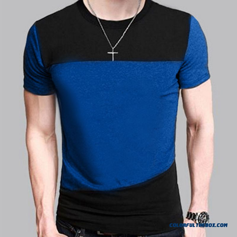 New Fashion Mens 2016 Short Sleeve Brand Patchwork T Shirt O-neck Men T-shirt Funny Shirt Male Hip Hop T Shirts Large Size Xxxl