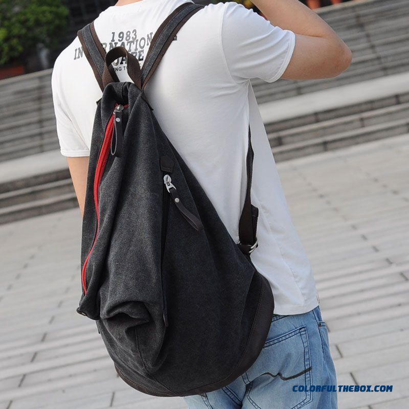 New Fashion Personality Men Women Shoulder Bag Casual Canvas Bag Large Capacity Of Backpack