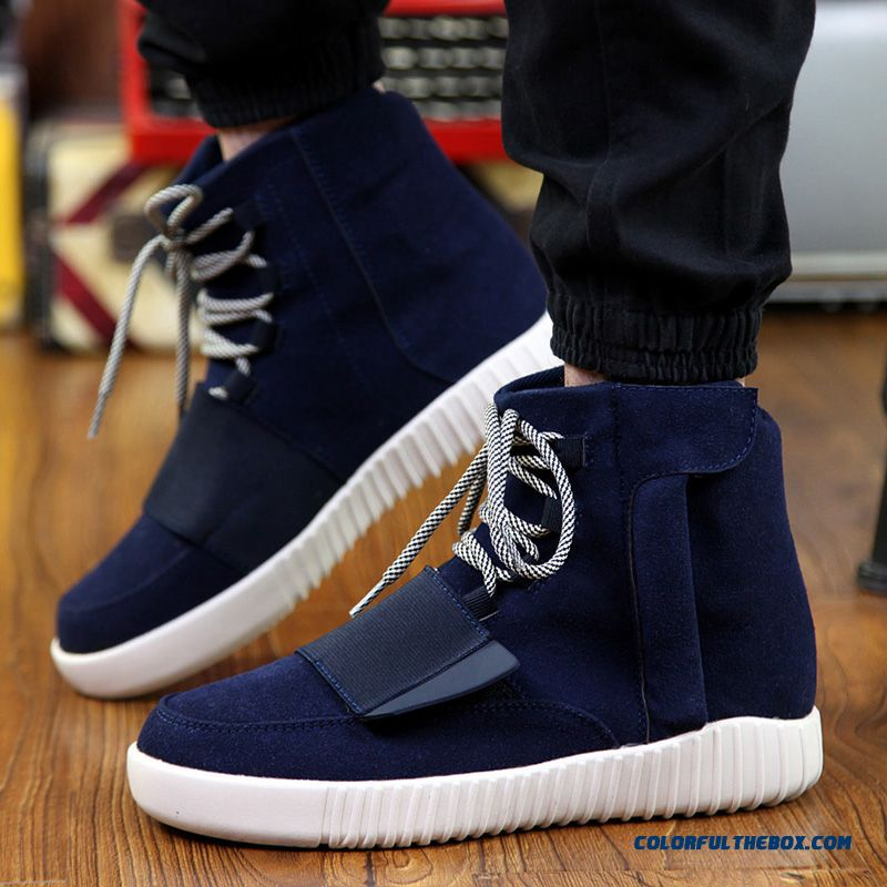 New Fashion Shoes Mens Men High Tops Casual Shoes Fashion Comfortable Breathable Lace Up Flats Cotton Winter Warm