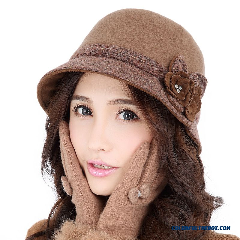 New Fashion Wool Top Hat Elegant Ladies Hat Sophisticated Lady Women's Accessories