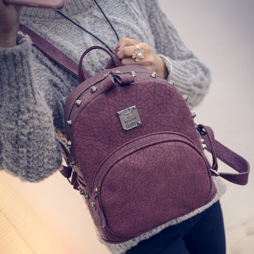 New Fashionable Women Backpack Snake Print Rivet Casual Pu Splicing Street Bagsnew Fashionable Women Backpack Snake Print Rivet Casual Pu Splicing Street Bags