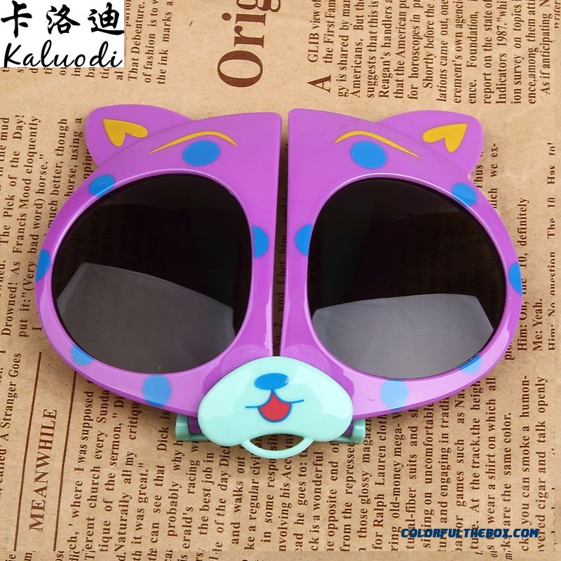 New Folding Glasses Bear Kids Polarizer Glasses Sunglasses Dark Glasses For Girls - more images 1