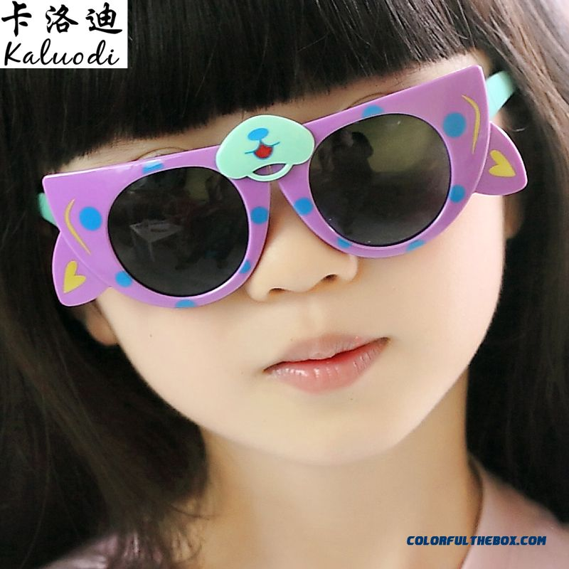 New Folding Glasses Bear Kids Polarizer Glasses Sunglasses Dark Glasses For Girls - more images 2