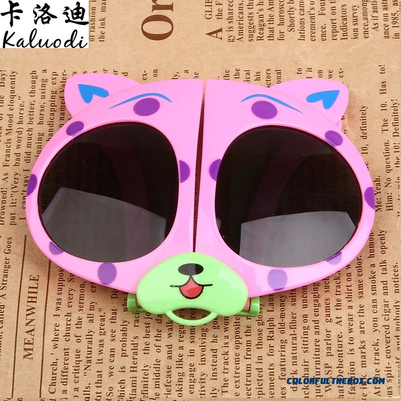 New Folding Glasses Bear Kids Polarizer Glasses Sunglasses Dark Glasses For Girls - more images 3