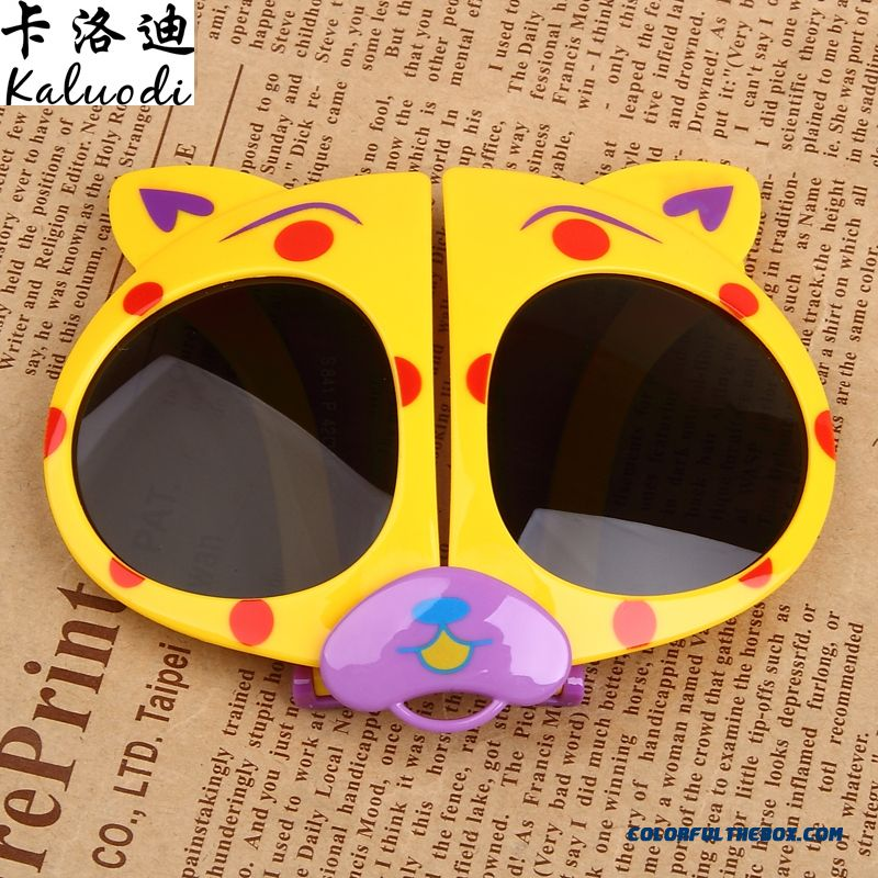 New Folding Glasses Bear Kids Polarizer Glasses Sunglasses Dark Glasses For Girls - more images 4