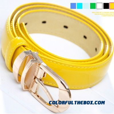 New Free Shipping All-match Simple Decoration Wide Belt Ladies Patent Leather Belt Fine Fashion