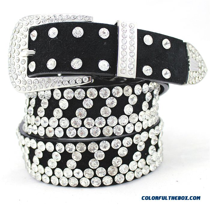 New Free Shipping Women Korean Fashion Leather Belt Width Decorated Mosaic Rhinestone Pin Buckle Cummerbunds Luxury