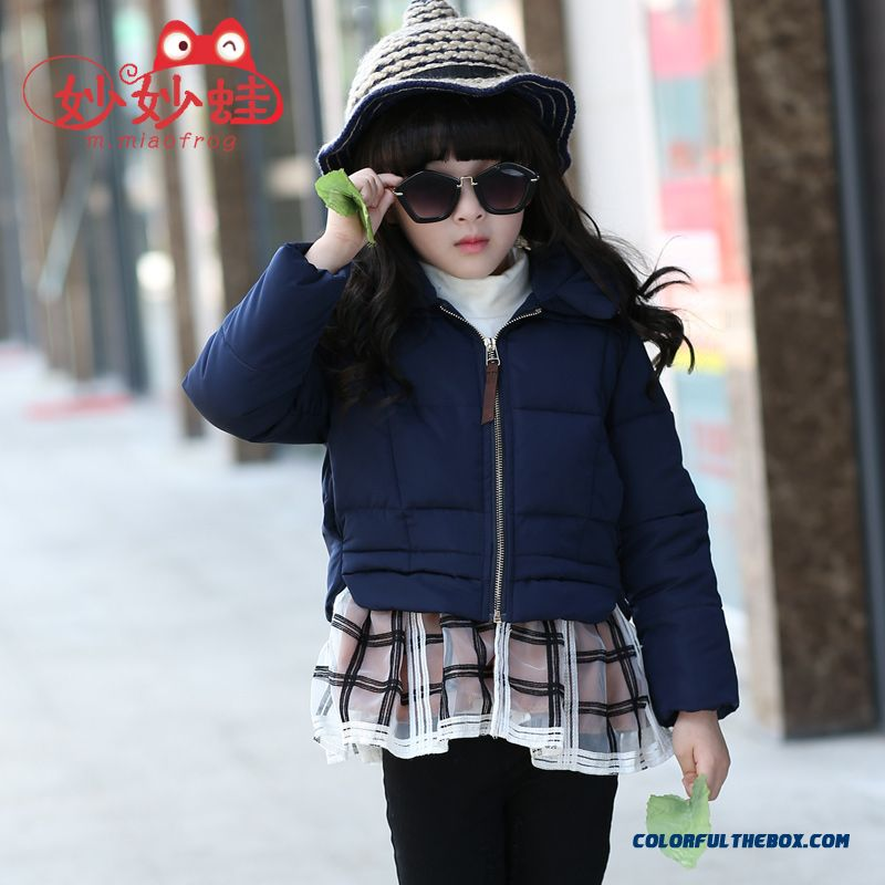 New Girls Short Coat Thicken Lotus Leaf Skirt Lap Zipper Kids Casual Jacket