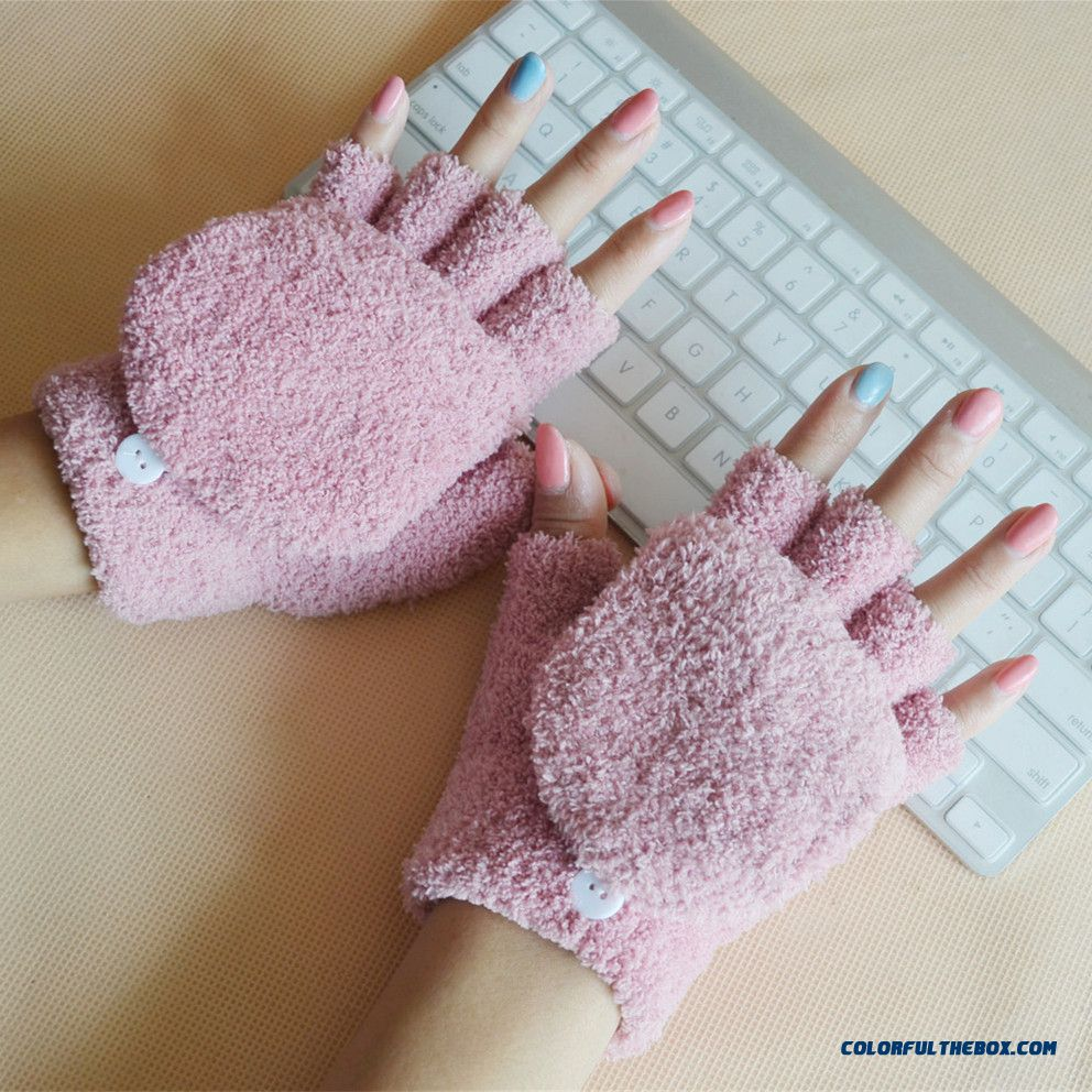 New Half-finger Gloves Clamshell Half Finger Mittens Women And Men Free Shipping Wholesale