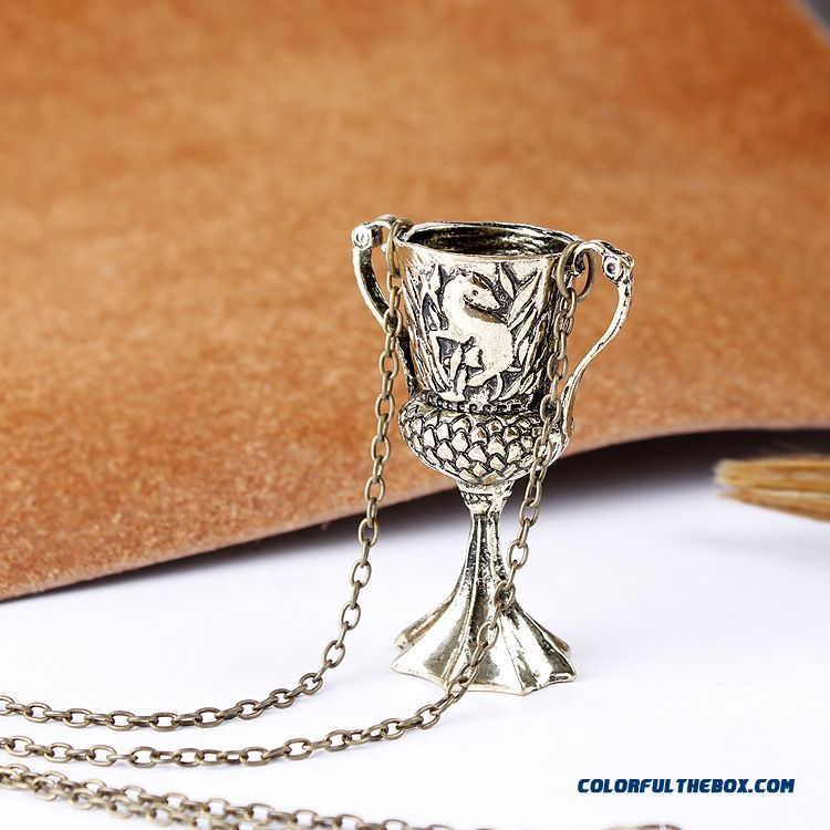 New Harry Potter Necklace Hufflepuff Cup Pendant Special Design For Women - more images 1