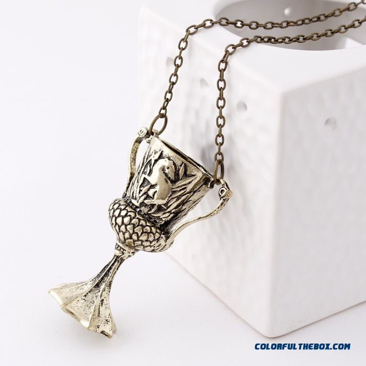 New Harry Potter Necklace Hufflepuff Cup Pendant Special Design For Women - more images 3