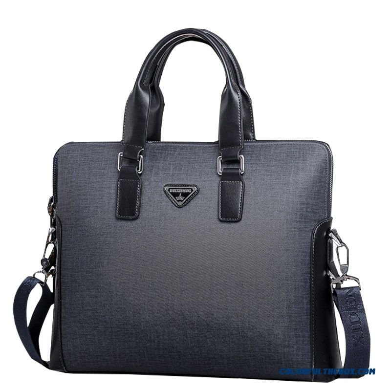 New Horizontal Style Of Briefcase Men Shoulder Bag Casual Laptop Bags Briefcase