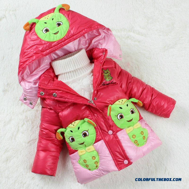 New Kids Girls Baby Cotton Jacket Kids Winter Thick Padded Cartoon Custom Design Clothibg