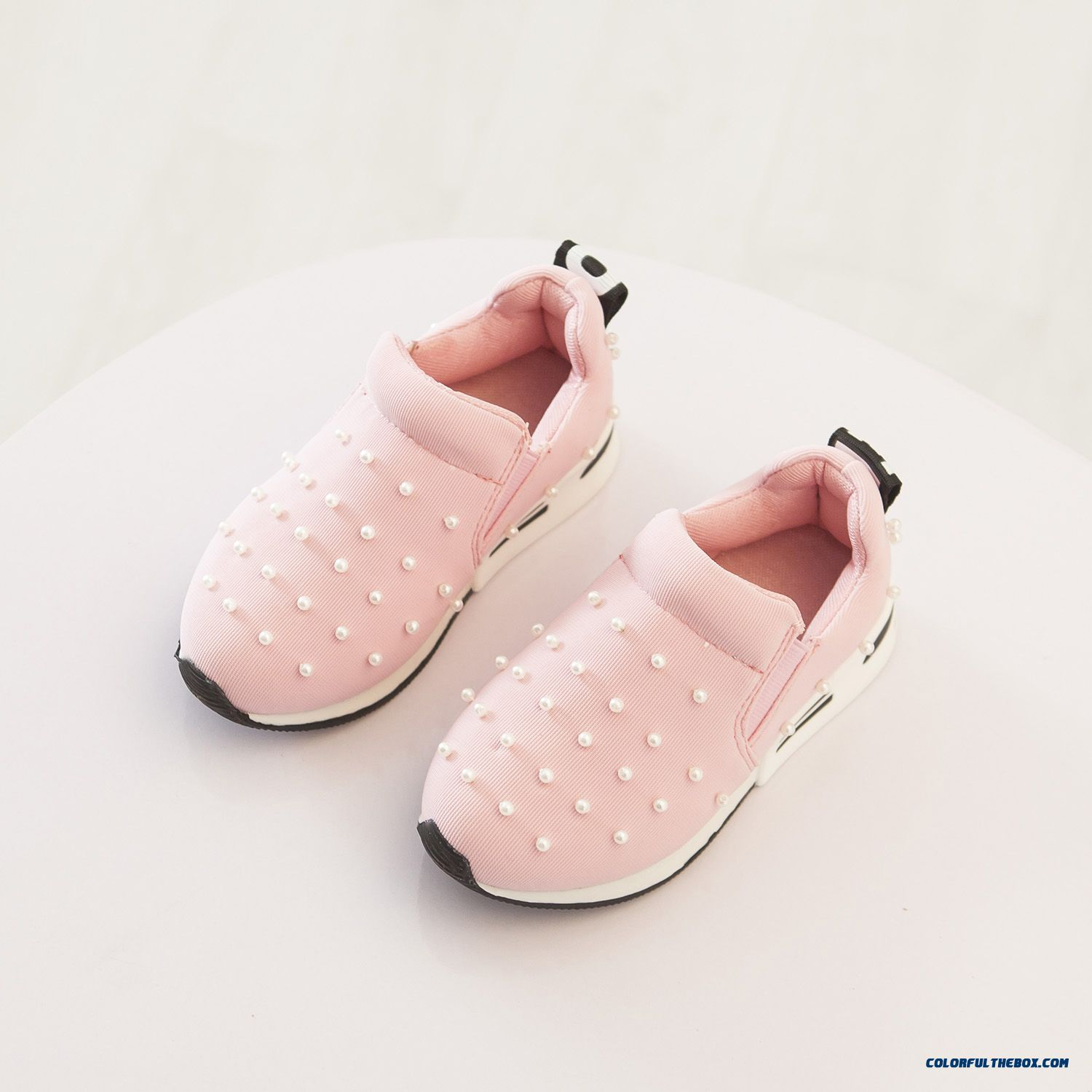 New Korean Pearl Kids Sports Shoes Girls Breathable Running Shoes
