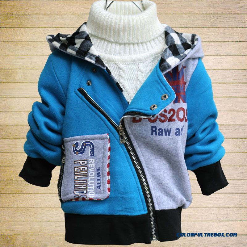 New Korean Style Children Kids Autumn Sweater Jacket Inclined Zipper Design For Little Boys Kids
