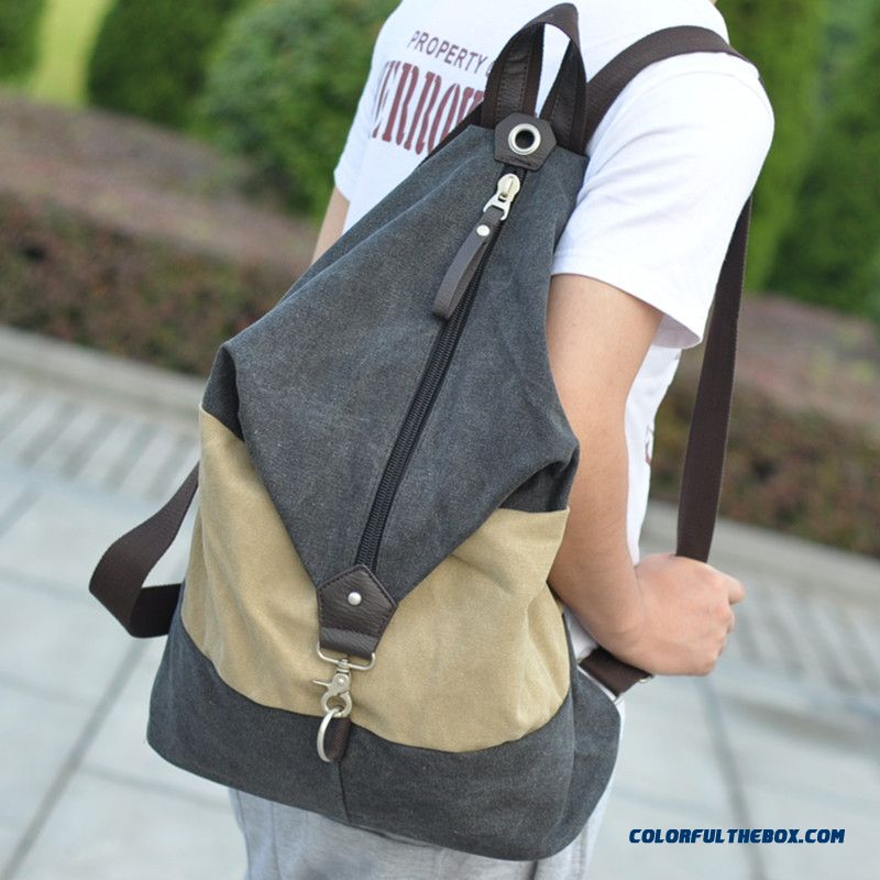 New Korean Version Of Men And Women High Capacity Backpack With Big Zipper
